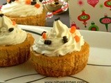 Egg-Less Pumpkin Cheesecakes Recipe | Miniature Party Cheese Cupcakes Recipe