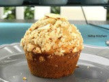 Eggless Banana Wheat Muffins