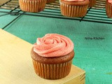 Strawberry Cupcakes Using Fresh Strawberries From Scratch with Strawberry Buttercream Icing Recipe