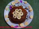 Banana choco butterscotch chips pancake