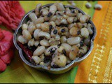 Karamani sweet sundal/cow gram sweet sundal/navarathri recipes