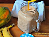 Papaya banana oat milk smoothie/summer recipes