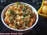 Schezwan fried rice/kids special/lunch box recipe