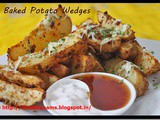 Australian Baked Potato Wedges w Sour Cream and Sweet Chili Sauce