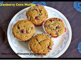 Cranberry Corn Muffin–Eggless and Butterless