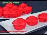 Eggless Strawberry Muffin - Without Egg, Without Butter
