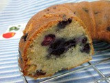 Blueberry yoghurt coffee cake