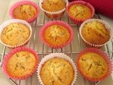 Orange  poppyseed muffins
