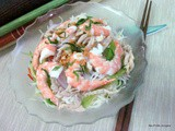 Prawn and chicken vermicelli salad
