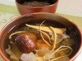Snow fungus with ginseng soup