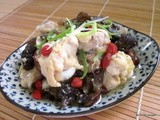 Steamed chicken with Foo Yue