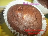 Eggless Chocolate Banana Walnut Muffins