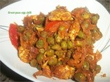 Green peas egg chilli