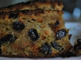 Moist Carrot-n-apple-raisin cake (butter-free)