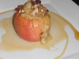 Maple Baked Apples stuffed with stewed apples and pecans