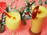 Apple Saffron Milk Shake