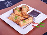 Cheese Corn Spring Roll- a perfect party appetizer