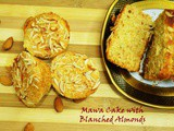 Eggless Mawa Cake With Blanched Almonds- Eggless Cakes