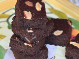 Eggless Whole Wheat Almond Brownie