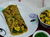 Eggless Whole Wheat Crepes/ Paneer Stuffed Eggless Crepes