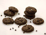 Fudge Cookies / Eggless Chocolate Fudge Cookies