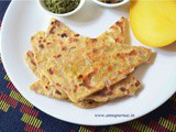 Onion Paratha /Pyaaz Ka Missa Paratha- Healthy summer breakfast