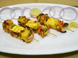 Paneer Tikka on Tawa- Grilled Spicy Cottage Cheese