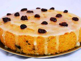 Soft & Moist Orange Cranberry Cake / Eggless Orange Cranberry Cake