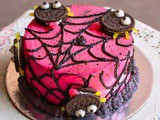 Spooky Spider On The Cobweb Cake