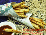 Sweet Ginger Garlic Lime Taro Fries With Garlic Chilli Sauce