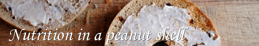 Very Good Recipes - Nutrition in a peanut shell