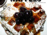 ~Blueberry Sour Cream Waffles