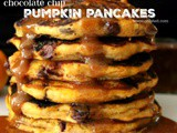 ~Chocolate Chip Pumpkin Pancakes…with Pumpkin Pie Syrup