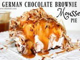 ~German Chocolate Brownie Mousse Pie
