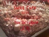 ~Hot Cocoa Sheet Cake..with Peppermint Marshmallow Swirl
