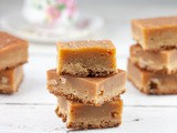 Amaretto and white chocolate blondies