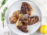 Barbecue sage and lemon chicken legs