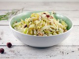 Braised cabbage with hazelnuts