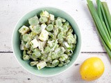 Broad bean and lemon salad