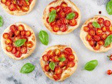 Mini cherry tomato tarts