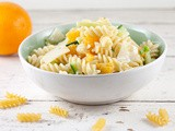 Pasta salad with orange and cheese
