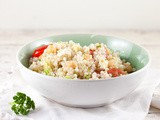 Pearl couscous and cauliflower salad