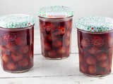 Port-preserved cherries