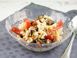 Roasted vegetables pasta salad