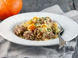 Spicy couscous with meatballs and pumpkin
