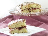 Guest Post *Slow Cooking Kitchen: Royal Malibu Coconut Cake w/ Raspberry Jam