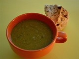 Split Pea Soup w/ Garlic Basil Soda Bread