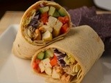 Tofu Thai Wraps w/  Spicy Peanut Sauce