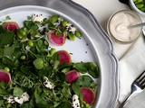 Mâche and Mint Salad with Buttermilk-Ponzu Dressing