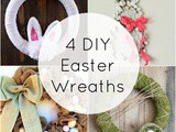 4 diy Easter Wreaths + Funtastic Friday 121 Link Party